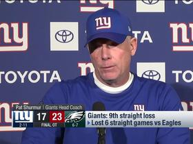 Watch: Pat Shurmur explains what went wrong in 'MNF' loss to Eagles