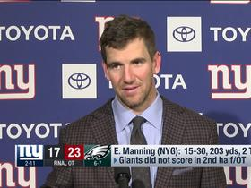 Watch: Eli Manning reacts to loss in his first start since Week 2