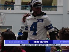 Watch: Cowboys make annual visit to local children's hospitals