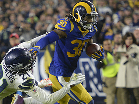 Watch: Mic'd Up: Rams' sideline reacts to Gurley's devastating stiff-arm | Week 14