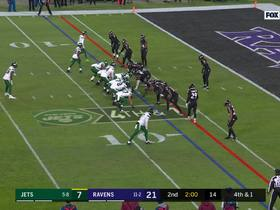 Watch: Ravens take over after Robby Anderson can't haul in Darnold's fourth-down throw