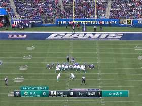 Watch: Jason Sanders pushes his 49-yard FG attempt wide right