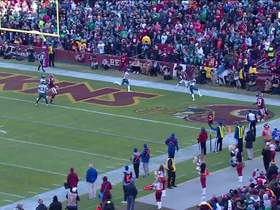 Watch: Haskins lobs third-down TD dime to Sims in back of the end zone