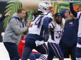 Watch: Can't-Miss Play: Gilmore's second INT is outstanding read for 64-YARD pick-six