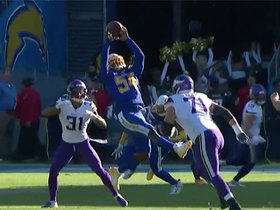 Watch: Melvin Ingram sniffs out Vikings' screen for impressive INT