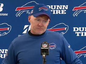 Watch: Sean McDermott: 'I'm humbled' by Bills' success