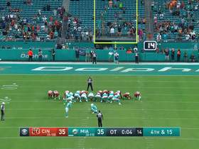 Watch: Sanders splits the uprights for game-winning FG as time expires in OT