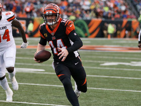 Watch: Andy Dalton goes ALL OUT on diving third-down TD scramble