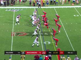 Watch: Buccaneers break up Falcons pass on fourth-and-1
