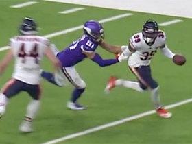 Watch: Eddie Jackson elevates for game-sealing INT against Vikings