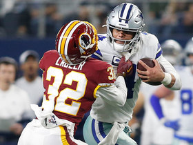 Watch: Can't-Miss Play: Dak Prescott's stiff arm is out of control on powerful run