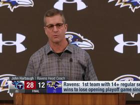 Watch: John Harbaugh reflects on how Ravens' 2019 season ended