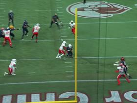 Watch: The DB was on him 'like a backpack!' TE snags fourth-down TD