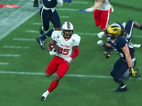 Watch: Rico Dowdle breaks free for explosive 30-yard gain