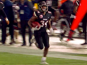 Watch: Can't catch Calais! RB opens second half with 100-YARD TD
