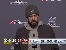Watch: Rodgers on NFC championship loss: 'It definitely hurts'