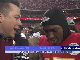 Watch: Mecole Hardman on Chiefs reaching Super Bowl: 'We just gotta keep working'