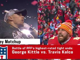 Watch: Pro Football Focus: Comparing Kittle vs. Kelce