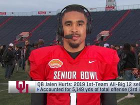 Watch: Jalen Hurts: 'There's no limit' to where I can take my game