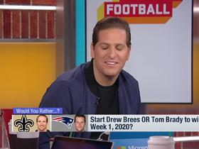 Watch: Brees vs. Brady: Who would rather start Week 1 next season?