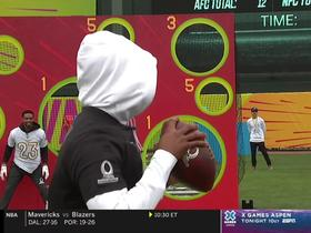 Watch: AFC, NFC debut new 'Thread the Needle' challenge at Pro Bowl Skills Showdown
