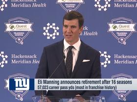Watch: Eli Manning bids farewell to Giants in opening statement