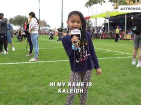 Watch: Strong Side: Earl Thomas's daughter was born to be a sports reporter
