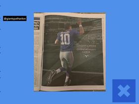Watch: Jets, Mets take out ads congratulating Eli Manning after 16-year career