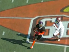 Watch: Kindle Vildor hauls in Shea Patterson's overthrow for INT