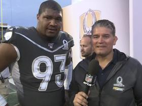 Watch: Calais Campbell reacts to Pro Bowl after winning game's Defensive MVP award