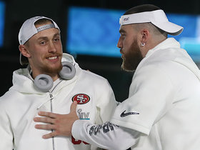Watch: Kittle, Kelce hype up each other's games at Opening Night