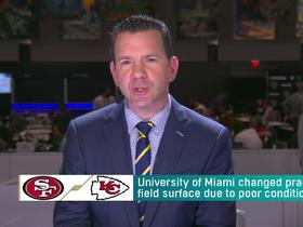 Watch: Rapoport: 'Crisis averted' after University of Miami changed practice field for 49ers