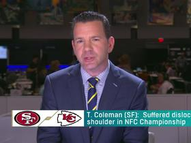 Watch: Rapoport: Tevin Coleman sounds 'optimistic' about playing in SBLIV