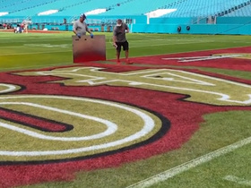 Watch: First look: 49ers' end zone is painted ahead of Super Bowl LIV