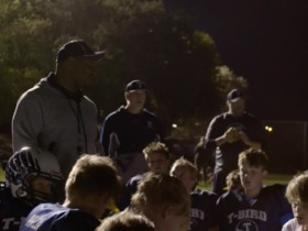 Watch: Passing It Forward: MJD coaches up his son's football team
