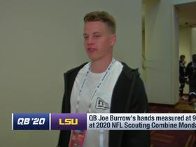 Watch: Joe Burrow responds to critics following hand-size measurement