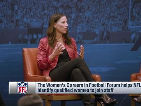 Watch: NFL hosts Women's Careers in Football Forum at combine