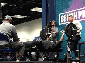 Watch: Denzel Mims puts up 16 reps on bench press
