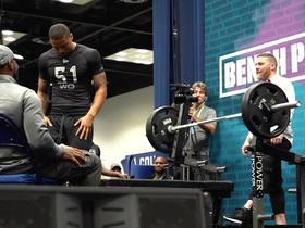 Watch: Freddie Swain puts up 16 reps on bench press
