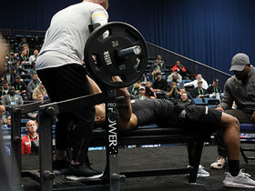 Watch: Malcolm Perry puts up 10 reps on bench press