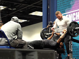 Watch: Darrell Stewart puts up 15 reps on bench press