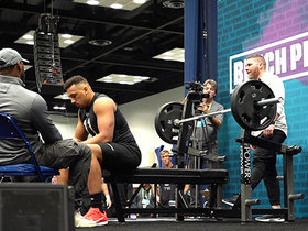 Watch: C.J. O'Grady puts up 16 reps on bench press
