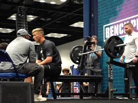 Watch: Harrison Bryant puts up 23 reps on bench press