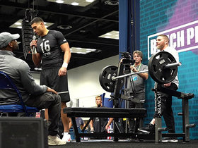 Watch: Charlie Taumoepeau puts up 18 reps on bench press