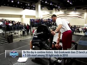 Watch: Flashback: Gronk puts up 23 reps on bench press in 2010