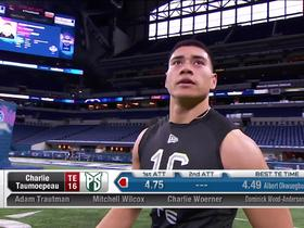 Watch: Charlie Taumoepeau runs unofficial 4.75 second 40-yard dash at 2020 combine
