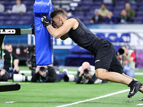 Watch: TEs show blocking explosiveness in sled drill at 2020 combine
