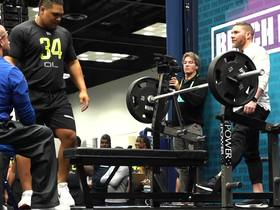 Watch: Netane Muti puts up 44 REPS unofficially on bench press at 2020 combine