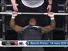 Watch: K.J. Hamler puts up 15 reps on bench press at 2020 combine