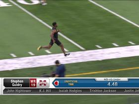 Watch: Stephen Guidry runs unofficial 4.48 second 40-yard dash at 2020 combine